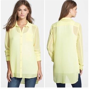 Halogen Sheer High/low Blouse/Tunic
